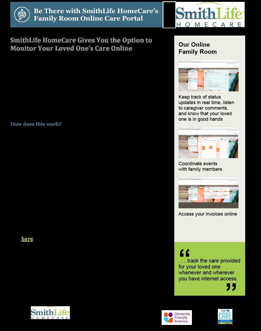 SmithLife information sheet